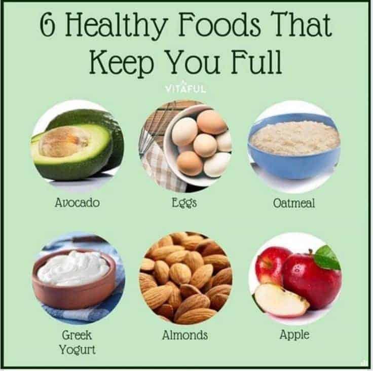 6 tervislikku toiduainet, mis täidavad kõhtu